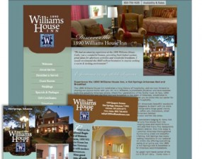 1890 Williams House Inn web & print design