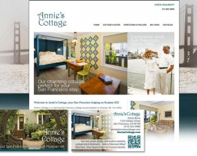 Annie's Cottage web & print design