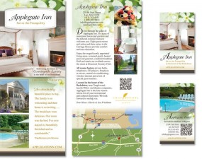 Applegate Inn print design