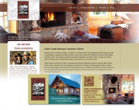 Cabin Creek web & print design