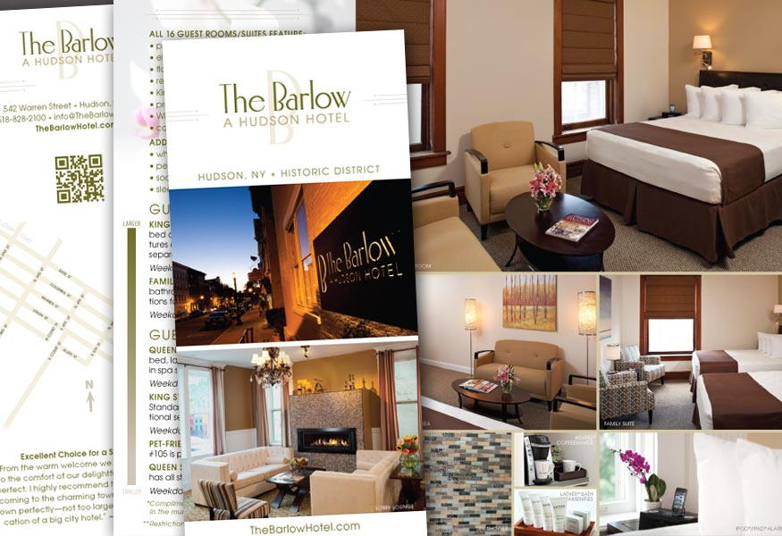 Graphic design for print marketing insideout solutions for Hotel design job