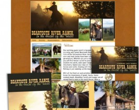Beartooth River Ranch web & print design