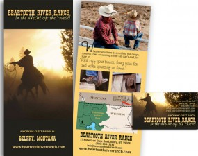 Beartooth River Ranch - print marketing