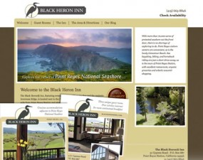 Black Heron Inn web & print design