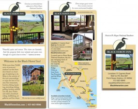 Black Heron Inn - print marketing