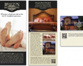 Brayton Bed and Breakfast print design