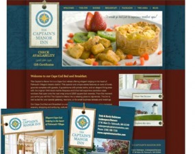 The Captain's Manor Inn web & print design