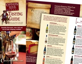 Captain's Walk Winery tasting guide