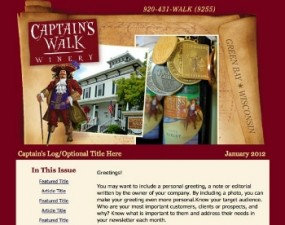 Captain's Walk Winery - e-newsletter