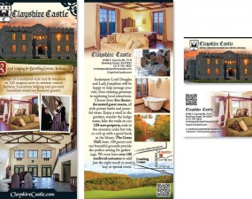 Clayshire Castle - print marketing