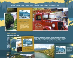 Concrete Chamber of Commerce web & print design