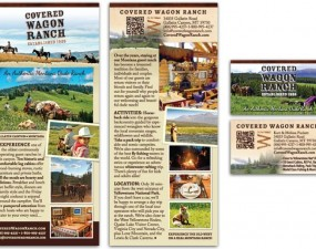 Covered Wagon Dude Ranch - print design