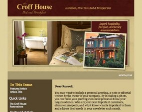The Croff House Bed and Breakfast - e-newsletter