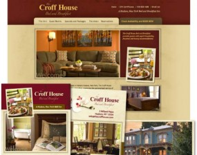 Croff House Bed and Breakfast web & print design