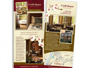 The Croff House bed and Breakfast - rack card