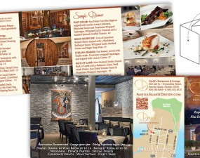 David's Restaurant and Lounge print design