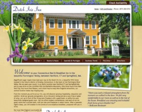 Dutch Iris Inn web & print design