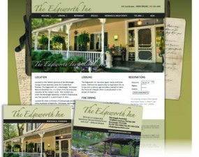 The Edgeworth Inn web & print design