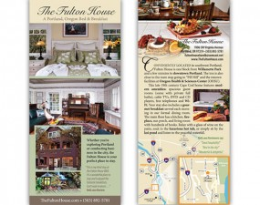The Fulton House rack card
