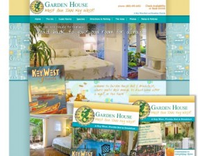 Garden House web & print design