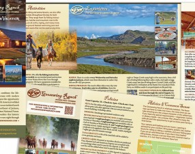 Goosewing Ranch web & print design