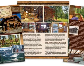 Historic Tamarack Lodge print design