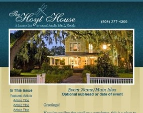 The Hoyt House - e-newsletter