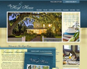 The Hoyt House web & print design