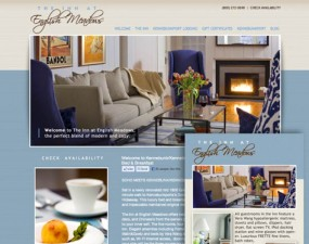 The Inn at English Meadows web & print design