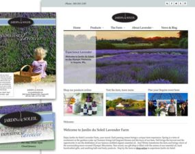 Jardin du Soleil website and print graphic design