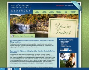 Kentucky B&B Assoc.kentuckybb.comThis custom InsideOut site allows visitors to quickly and easily find lodging from this diverse set of Bluegrass State B&Bs.
