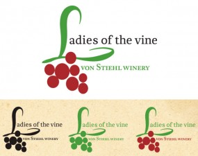 Von Stiehl Winery Ladies of the Vine logo design