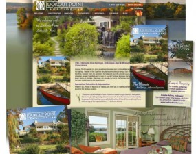 Lookout Point Lakeside Inn web & print design