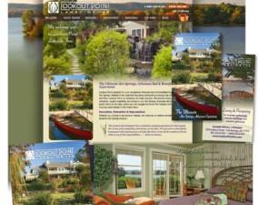 Lookout Point Lakeside Inn web & print design
