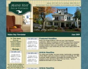 Maine Stay Inn & Cottages - e-newsletter