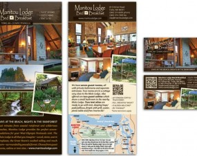 Manitou Lodge Bed and Breakfast print design