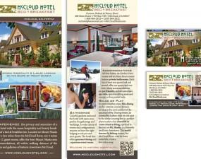McCloud Hotel Bed & Breakfast print design