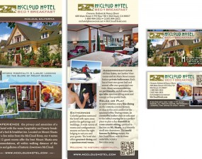 McCloud Hotel Bed & Breakfast - print marketing