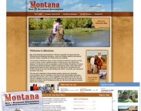 Montana Bed & Breakfast Association print design
