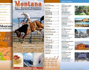 Montana Bed & Brekfast Association brochure