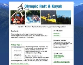 Olympic Raft & Kayak - e-newsletter