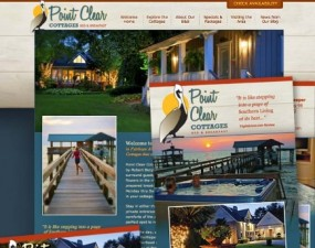 Point Clear Cottages print design