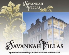 savannah villas logo design