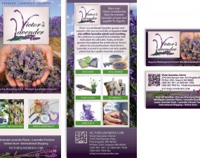 Victor's Lavender - print marketing