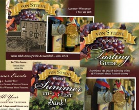 Von Stiehl Winery print design