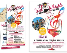 Wet Whistle Wine Festival event branding update