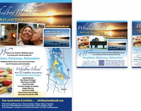 Whidbey Island Bed & Breakfast Association print design