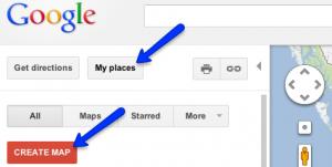 create a Google map