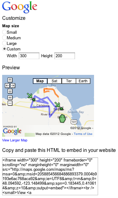 get Google map code for your blog