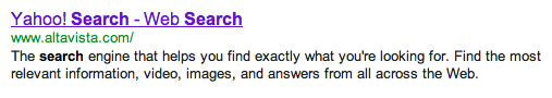 Yahoo Internet Search